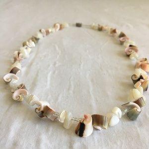 Vintage Spiral Shell Necklace